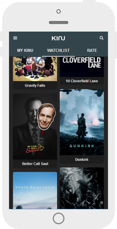 Kinu App Alternative Movie Recommendations View